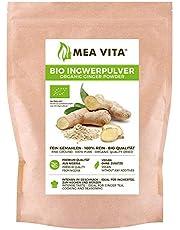 MeaVita Meavita Organic Ginger Powder, 100% Puro, 1 Confezione (1X 250G) - 250 g