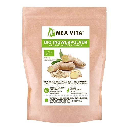 MeaVita Gingembre Biologique en Poudre 100% Pur 250 g, 60750