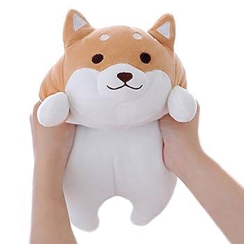 Shiba Inu Dog Plush Pillow Cute Corgi Akita Stuffed Animals Doll Toy Gifts for Valentine s Gift Christmas,Sofa Chair Brown Round Eye 15
