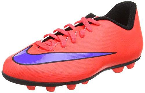 Nike Nike Unisex-Kinder Jr. Mercurial Vortex II FG Fußballschuhe, Rot (Bright Crimson/PRSN Violet-Blk), 33