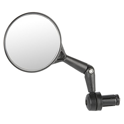 M-Wave Spy Maxi Retrovisor al Manillar, Unisex Adulto, Negro, Talla única