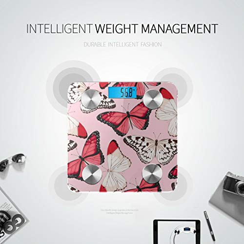 Beautiful Butterfly and Dragonfly Bathroom Scales Most Accurate Scale for Body Weight Best Rated Bathroom Scales Tracks 8 Key Compositions Analyzer Sync with Fitness Apps 400 Lbs