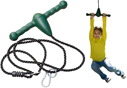 Jungle Gym Kingdom Trapeze Bar Rope Swing and Spin - Green