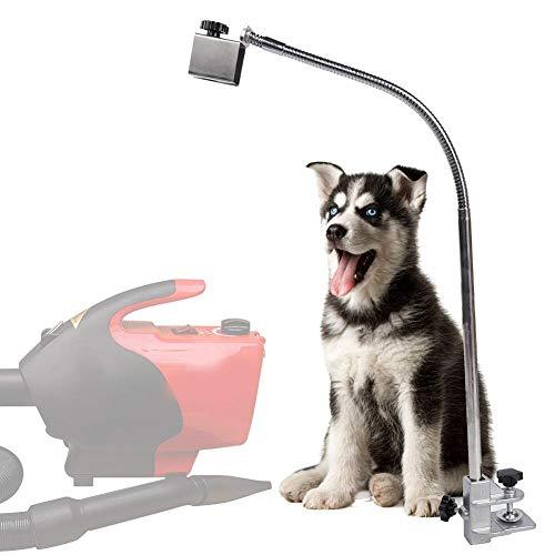 【 】 Soporte para secador de Mesa de Aseo para Mascotas, Resistente al óxido de Acero Inoxidable Duradero con diseño Flexible de 360 ° y Clip para Mesa de Aseo para Mascotas