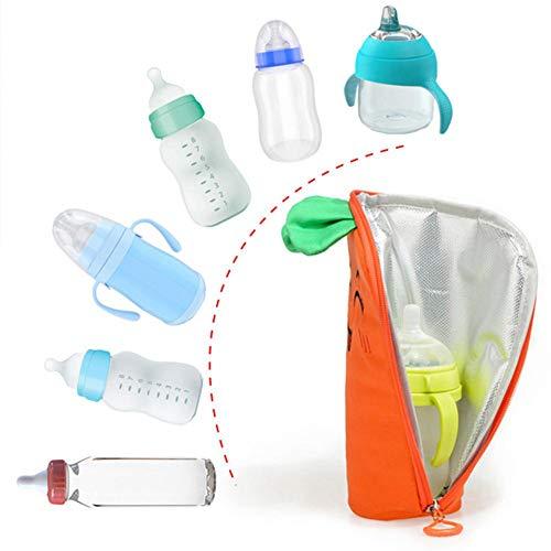 Baby Flaschenwärmer USB Heizung Tragbare Babykostwärmer Infant Fütterung Becher Milchwärmer Beheizte Aufbewahrungstasche, Mobiler Babyflaschenwärmer