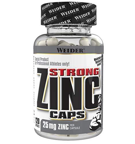WEIDER Strong Zinc Caps, hochdosiert, 25 mg Zink pro Kapsel, 120 Kapseln, Immunsystem