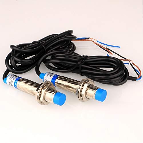 Gebildet 2 pcs Interruttore di Rilevamento Sensore di Prossimità Induttivo in Metallo, Rilevatore LJ12A3-4-Z/BX 4mm 6-36 VDC 300 mA NPN Normalmente Aperto (NO) a 3 Fili