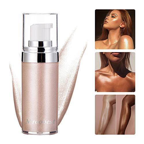 Highlighter Flüssig, Highlighter, Make Up Highlighter, Liquid Highlighter, High Gloss Body Face Glitter Bronze Illuminator Gel Shimmer Contour Makeup - Pearl White - 30ML