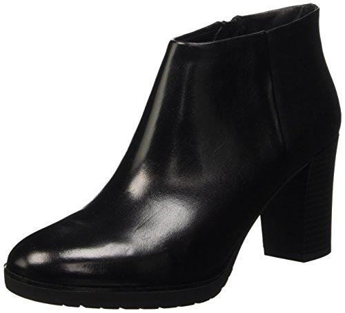 Geox Damen D RAPHAL MID B Kurzschaft Stiefel, Schwarz (BLACKC9999), 40 EU