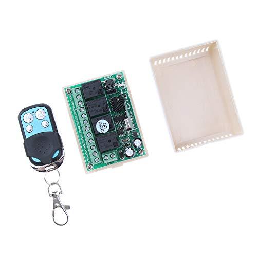 oshhni Unidad de Interruptor de Puerta de Enlace de Control Remoto de Aprendizaje de 12 V Y Controlador de 4 Botones 433 MHz