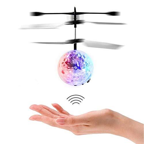 Dulabei Flying Ball Fliegender Ball Helikopter Ball RC induktion Heliball Ferngesteuerte mit farbwechselnden LED-Lichtern Indoor Outdoor Spiele für Kinder Jugendliche