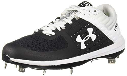Under Armour Men's Yard Low ST Baseball Shoe, Black (001)/White
