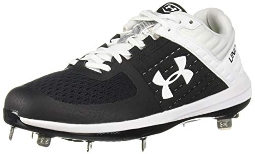 Under Armour Men's Yard Low ST Baseball Shoe, Black (001)/White