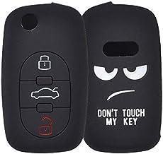 XUKEY - Funda de Silicona de 3 Botones para Llave de Coche para A2 A3 S3 A4 S4 RS4 A6 S6 allroad A8 S8 TT Roadster Cabriolet 1997-2006