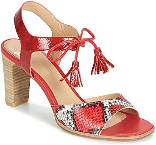 perlato Ruby Sandalen Sandaletten Damen Damen Damen Rot - 40 - Sandalen Sandaletten  Alle Waren sind Specials