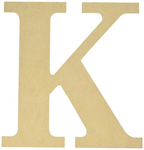 MPI MDF Classic Font Wood Letters and Numbers, 9.5-Inch, Letter-K