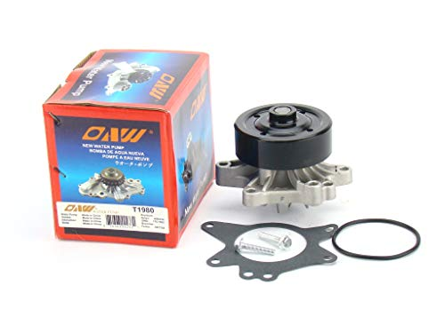 Price comparison product image OAW T1980 Engine Water Pump for 98-08 Toyota Corolla,  03-08 Matrix + Pontiac Vibe,  00-05 MR2 Spyder,  00-05 Celica GT (1794cc 1ZZFE Engine) & 98-02 Chevrolet Prizm L4 1.8L