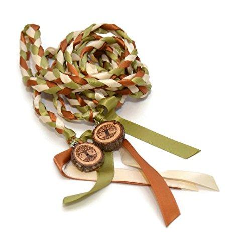 Divinity Braid Wood Tree Of Life Wedding Handfasting Cord #Wedding #WeddingCeremony #Celtic #Handfasting #HandfastingCord #CelticWedding #TreeOfLife