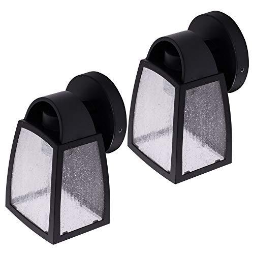2x LED Wand Lampen dimmbar FILAMENT Laternen Fassaden Außen Beleuchtung ALU Glas Garten Hof Leuchten