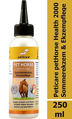 Peticare Spezial Pflege-Spray für Pferde bei Sommer-Ekzem, Dermatitis - Ekzemer-Mittel bei Kriebelmücken-Biss für die Haut beim Pferd, gegen Juckreiz, Keine Ekzemerdecke mehr - petHorse Health 2000