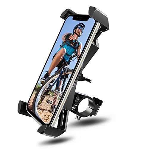 Fahrrad Handyhalterung Motorrad Handyhalter Holder - Amoner Universal für 20-35mm Lenker Handyhalter Wiege Klammer Mit 360 Drehen für 50-195 mm Smartphone GPS und andere Geräte