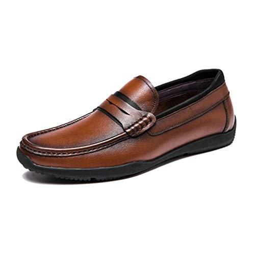 LangfengEU Herrenschuhe Sommer Herbst Mode Casual Lederschuhe Fahren Outdoor Walking Loafers Slip-On Lazy Schuhe Bequem