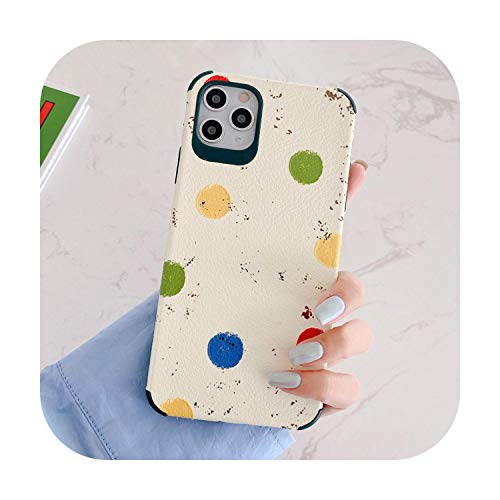 Phonecase Schutzhülle für iPhone 11 Pro Max Xr X Xs Max 7 8Plus Se2 3D Relief Dot Matte Leder Cover Multi-For iPhone 7