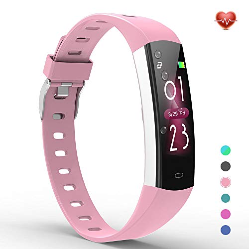 YoYoFit Slim Kids Fitness Tracker Heart Rate Monitor, Kids Activity Tracker Waterproof Pedometer Watch, Digital Kids Alarm Clock Step Calorie Sleep Health Tracker as Best Fitness Gift