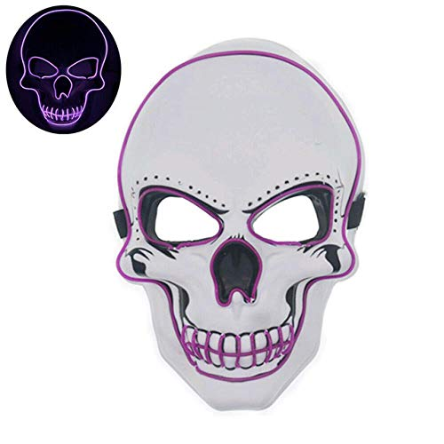 Halloween-Maske LED-Maske Leuchtende Party-Masken Neon Maska Cosplay-Wimperntusche...
