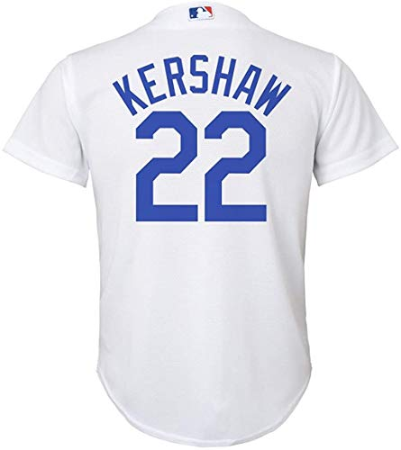 Clayton Kershaw Los Angeles Dodgers White Youth Cool Base Home Replica Jersey (Small 8)