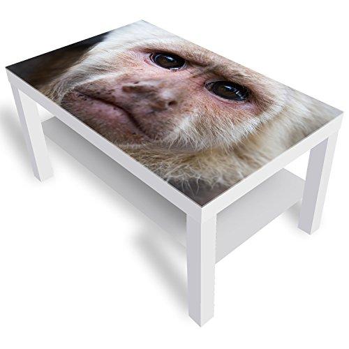 DekoGlas IKEA Lack Beistelltisch Couchtisch 'Kapuziner' Sofatisch mit Motiv Glasplatte Kaffee-Tisch, 90x55x45 cm Weiß