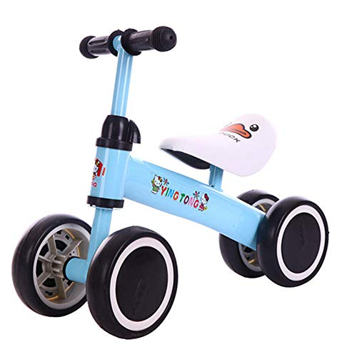 Sale!! Children's Casterless Four-Wheel Balance Car, Carbon Steel, Suitable for 1-3 Years Old,Blue