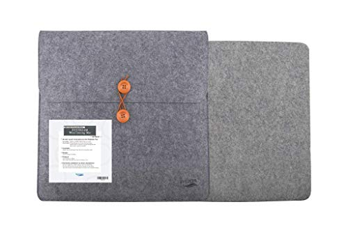 """BYSTREAM Wool Ironing Mat for Quilting, Wool Pressing Mat for Quilters 14 x 14 inches, 1/2"""" Thick, 100% New Zealand Wool, Portable and Smooth Pressing Pad Holds Quilts and Fabrics in Place"""