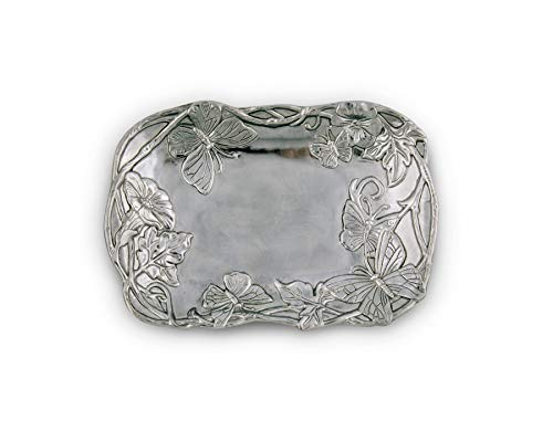 Arthur Court Butterfly 9-1/2 by 7-Inch Catch-All Tray
