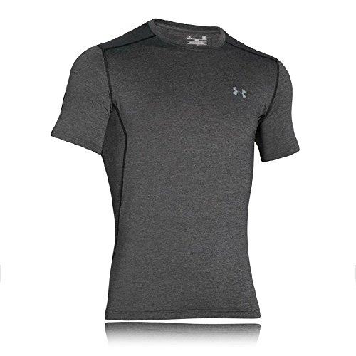 Under Armour UA HeatGear Armour Short Sleeve, atmungsaktives T-Shirt für Frauen, kurzärmliges Funktionsshirt mit enganliegender Passform Damen, Meteor Pink / Metallic Silver, S