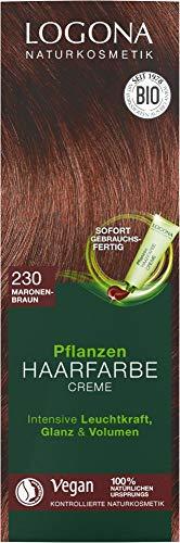 Logona Bio Pflanzen Haarfarbe Creme 230 maronenbraun (2 x 150 ml)