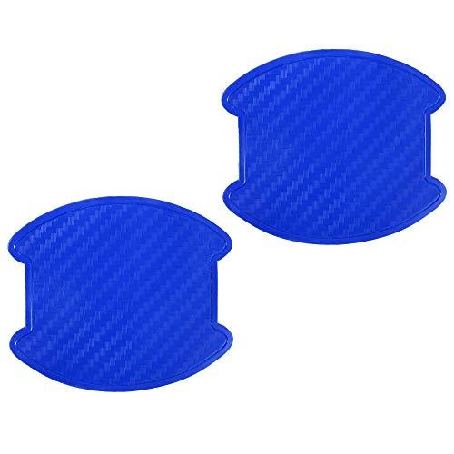 ランドクルーザー 200 ランクル UZJ200 ドアハンドル プロテクター ドアノブ カバー PVC製 ブルーカーボン 2枚セット 汎用
