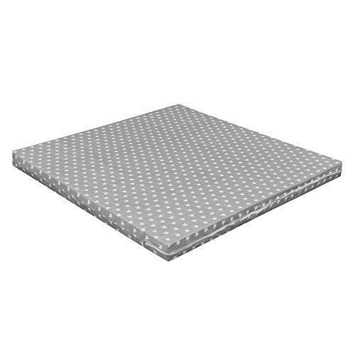 Baby Delux Matratze für Laufgitter Laufstall 100x100 cm Grey Stars