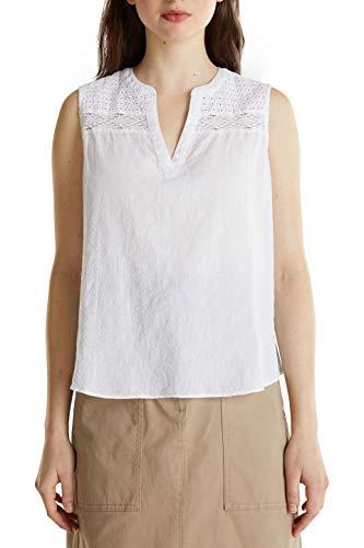ESPRIT Damen 030EE1F314 Bluse, 100/WHITE, 38