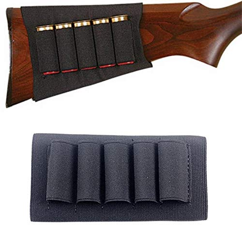 ACEXIER Rifle Hunting Tactical Shotgun Pouches 5 Butt Cartridges Stock...