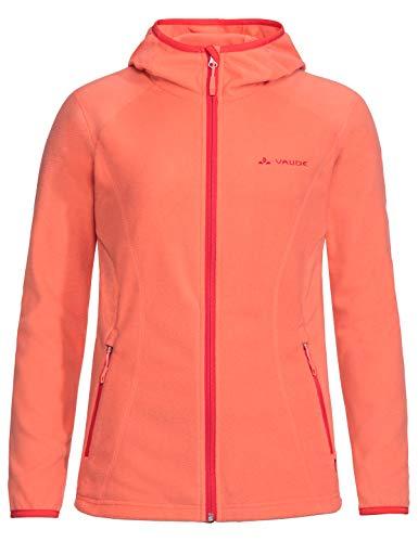 VAUDE Damen Jacke Women's Sunbury Hoody Jacket, leichte Fleecejacke, apricot, 38, 413066260380