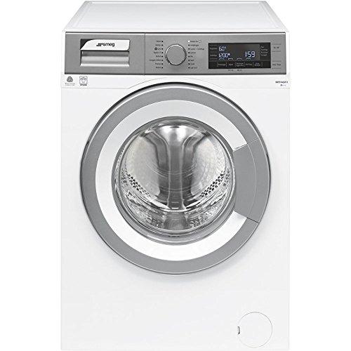 Smeg WHT914LSIT-1 Libera installazione Carica frontale 9kg 1400Giri min A+++ Cromo, Bianco lavatrice