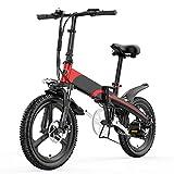 Liu Yu·casa creativa Bicicletas eléctricas Plegables for Adultos 400W Aleación de magnesio Aleación de la Rueda integrada 48V12.8AH / 14.5AH Batería de Litio de Litio 20 Pulgadas Bicicleta eléctrica
