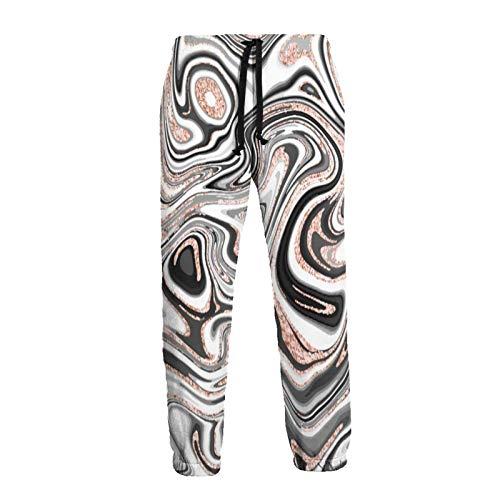 136 Art Abstract Marble Lines - Pantalones deportivos para hombre