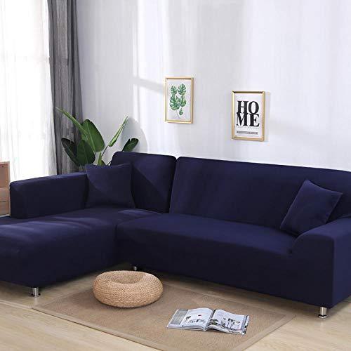 Flqwe Stretch Hoekbank, geometrische bankovertrek, katoenen overtrek, voor de woonkamer, elastische L-vorm, anti-slip bankhoes