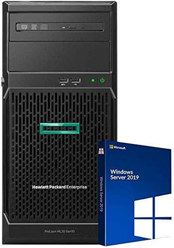 HP ProLiant ML30 Gen10 Tower Server Bundle with Intel Xeon E-2136, 64GB DDR4, 8TB SSD, RAID, Windows Server 2019