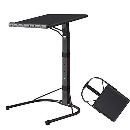 Tavolo per laptop, alzata pieghevole, tavolino estraibile, comodino regolabile in altezza e angolo tavolo