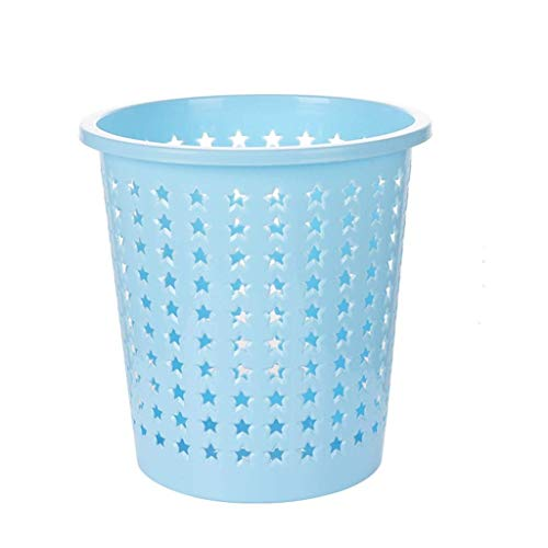 POUYTT Trash Can Kitchen Trash Can Bathroom Trash Can Household Round Uncovered Trash Can Plastic Material - Size -24.6x23.8cm