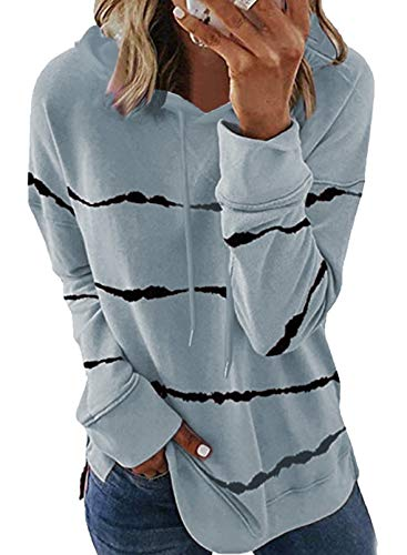 GOLDPKF Hoodie Damen Lang Zip Oberbekleidung Damen Herbst Bequeme Sweatshirt Jacke Baggy Casual Workout Walking Herbstjacke Grau M 40-42