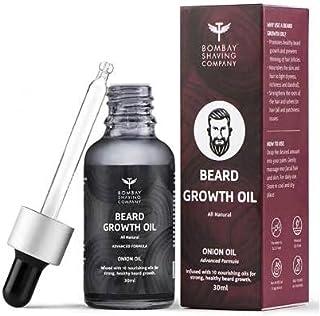 Bombay Shaving Company Beard Growth Onion Oil-10X Nourishing Oils For Stronger, Fluffier & Shinier Beard 30 ml | Made in I...